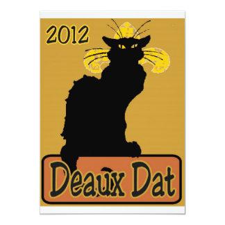Le Chat Noir Deaux Dat Carton D'invitation 12,7 Cm X 17,78 Cm
