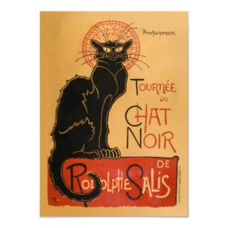 Le Chat Noir Carton D'invitation 11,43 Cm X 15,87 Cm