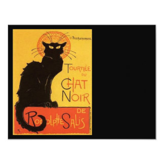 Le Chat Noir Carton D'invitation 10,79 Cm X 13,97 Cm
