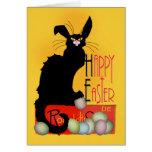 Le Chat Noir - Joyeuses Pâques Carte De Vœux