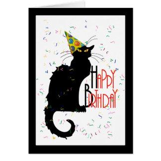 joyeux anniversaire chat noir cartes invitations photocartes et faire part joyeux anniversaire. Black Bedroom Furniture Sets. Home Design Ideas