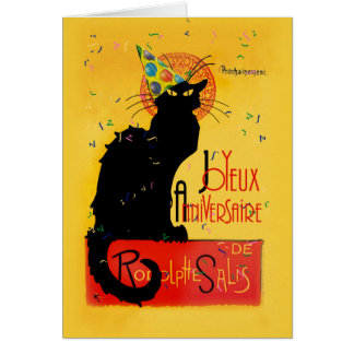 Le Chat Noir - Joyeux Anniversaire Carte De Vœux