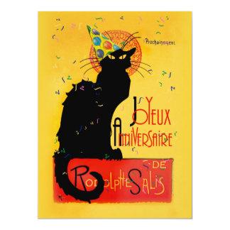 Le Chat Noir - Joyeux Anniversaire Carton D'invitation 16,51 Cm X 22,22 Cm