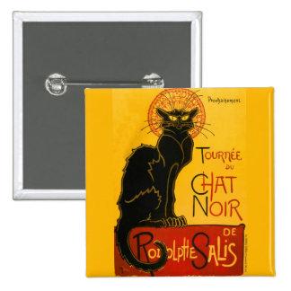 Le Chat Noir le cru de Nouveau d'art de chat noir Badge Carré 5 Cm