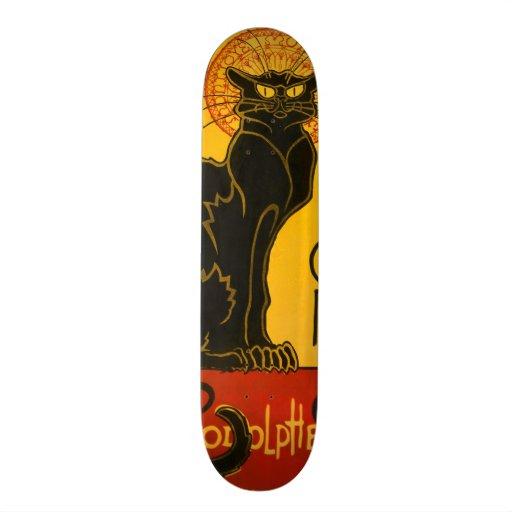 Le Chat Noir le cru de Nouveau d'art de chat noir Plateaux De Skateboards Customisés