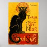 Le Chat Noir le cru de Nouveau d'art de chat noir Poster