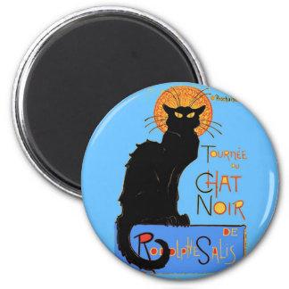 Le Chat Noir Magnet Rond 8 Cm