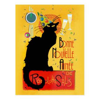 Le Chat Noir - nouvelle Année de Bonne Carte Postale