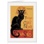 Le Chat Noir par Théophile Steinlen Cartes De Vœux
