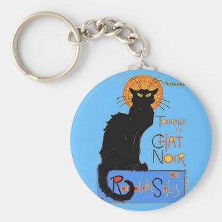 Le Chat Noir Porte-clé Rond