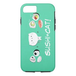 Le chat plus des sushi égale la gentillesse ! coque iPhone 7