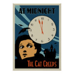 """""""Le chat rampe"""" affiche de film vintage"""