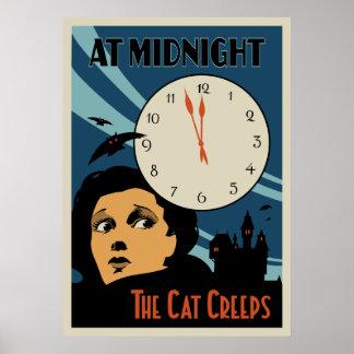 """""""Le chat rampe"""" affiche de film vintage Posters"""