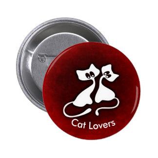 Le chat romantique mignon couple le bouton badges