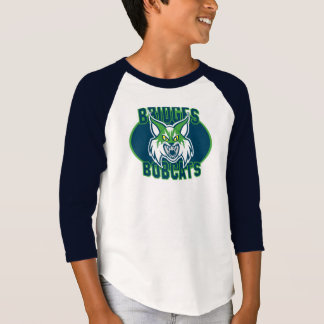 Le chat sauvage raglan des garçons - couleurs de t-shirt