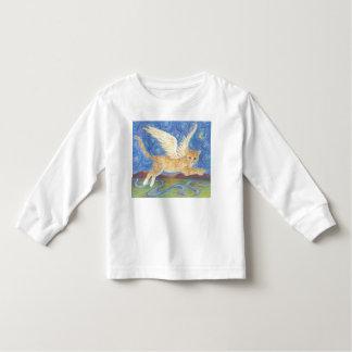 Le chat s'envole chemise de douille de ciel bleu t-shirt pour les tous petits