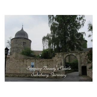 Le château de beauté de sommeil carte postale