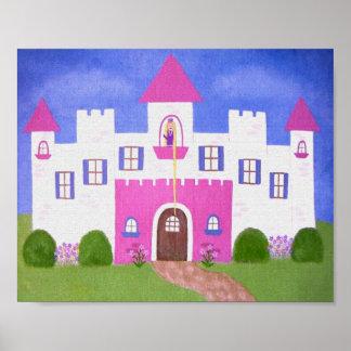 Le château de Rapunzel - 8x10 princesse Castle Posters