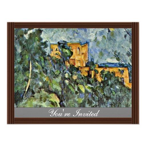 Le Château Noir par Paul Cézanne (la meilleure qua Cartons D'invitation