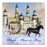 Le château opacifie la partie de princesse carton d'invitation