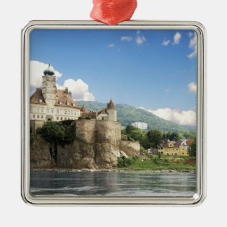 Le château renversant de Schonbuhel se repose Ornement Carré Argenté