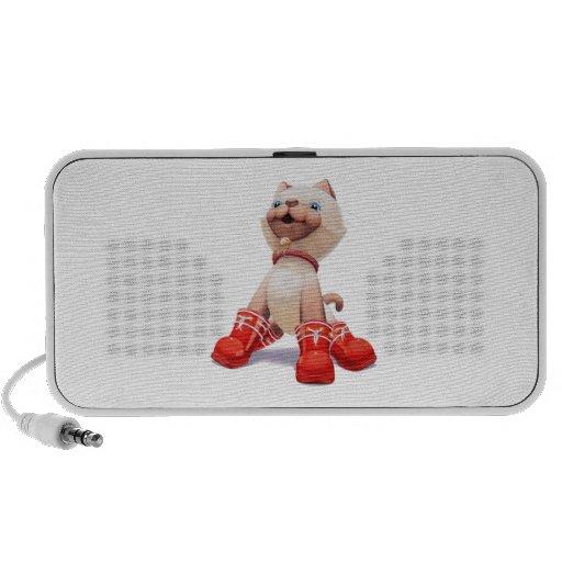Le chaton avec le rouge initialise le haut-parleur