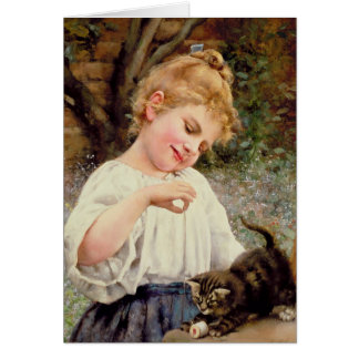 Le chaton espiègle carte de vœux