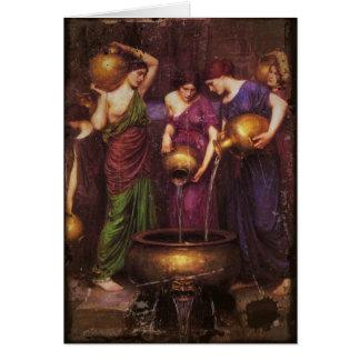 Le chaudron remplissant de trois Danaides Carte De Vœux