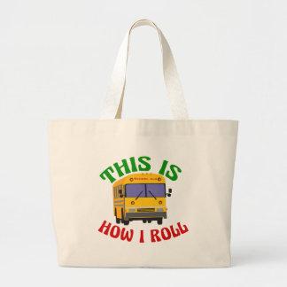 Le chauffeur d'autobus scolaire drôle ceci est grand tote bag
