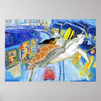 Le chauffeur de taxi jaune poster