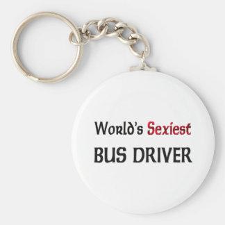Le chauffeur du bus le plus sexy du monde porte-clé rond