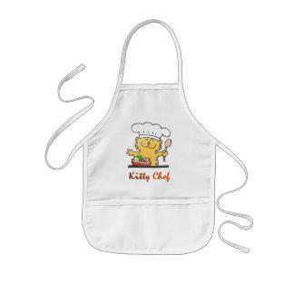 Le chef drôle de Kitty peut faire cuire Tablier Enfant