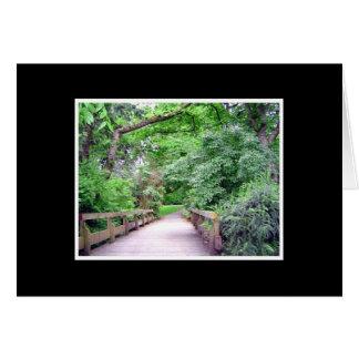 Le chemin de la nature carte de vœux