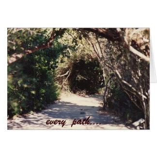 le chemin….par le peacewillow carte de vœux