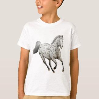 Le cheval d'Appaloosa de léopard badine le T-shirt