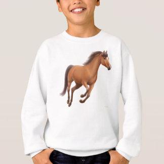 Le cheval de baie galopant badine le sweatshirt