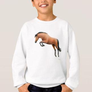 Le cheval de baie sautant badine le sweatshirt