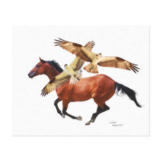Le cheval de pur sang colporte la toile