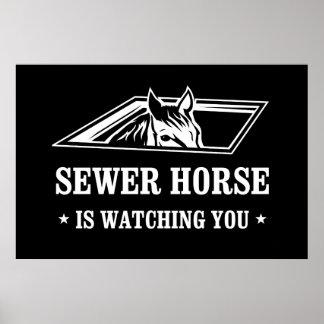 Le cheval d'égout vous observe poster