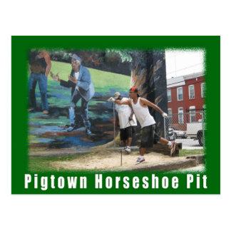 Le cheval vert de Pigtown de l'espace de Baltimore Cartes Postales