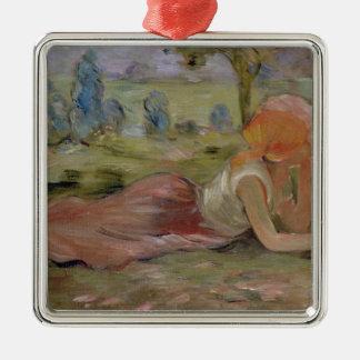 Le chevrier, 1891 ornement carré argenté