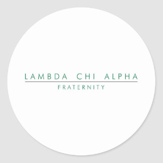 Le Chi de lambda alpha ferment à clef Sticker Rond