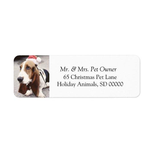 Le chien de Noël font l'étiquette de adresse de Étiquettes D'adresse Retour