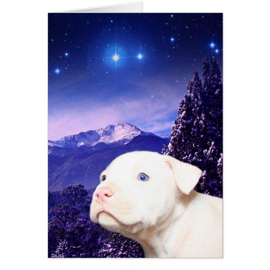 Le chien est Dieu écrit vers l'arrière… Carte De Vœux