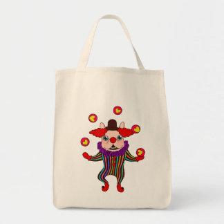 Le chien Frenchie de clown vous amuse avec son Tote Bag