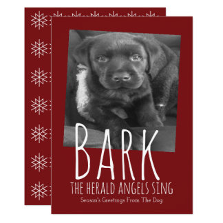 Le chien mignon écorcent des anges de The Herald Carton D'invitation 12,7 Cm X 17,78 Cm