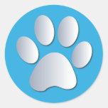 Le chien ou le chat de Pawprint choie les Autocollant Rond