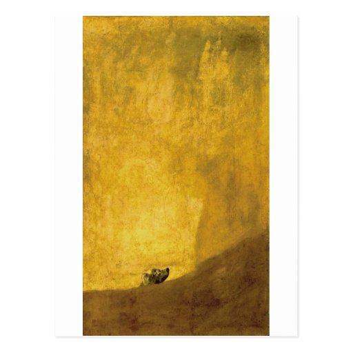 Le chien, par Francisco de Goya Carte Postale