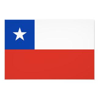 Le Chili - drapeau chilien Photos D'art