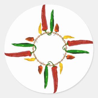 Le Chili Zia Sticker Rond